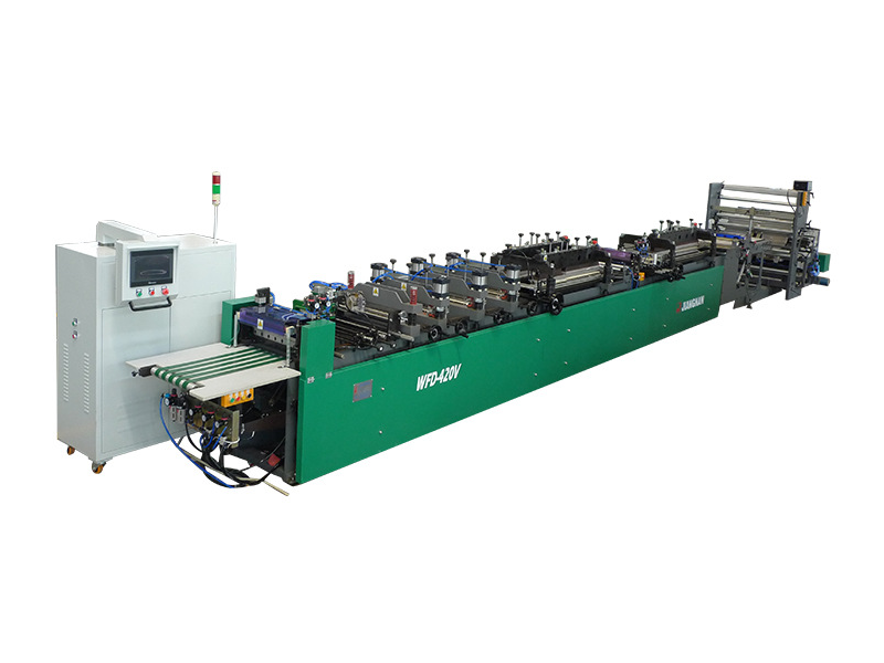 JNFD-420V High-speed Centre-Press Seal/ Four-Side-Seal Pouch-Making Machine